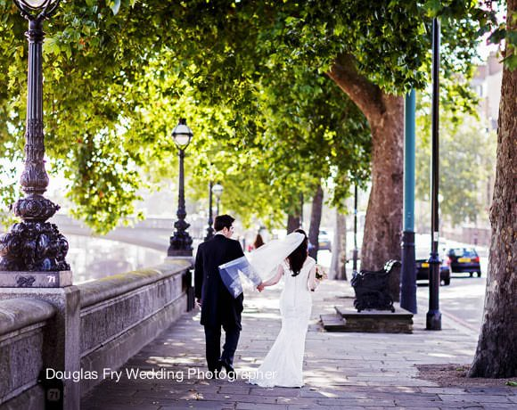 Wedding Photograph on Embankment London