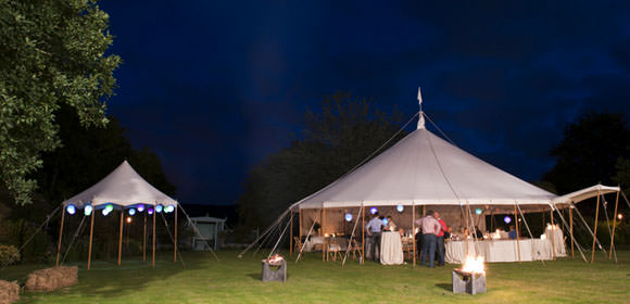 Round Marquees at a Summer Wedding from Wigwam Marquees