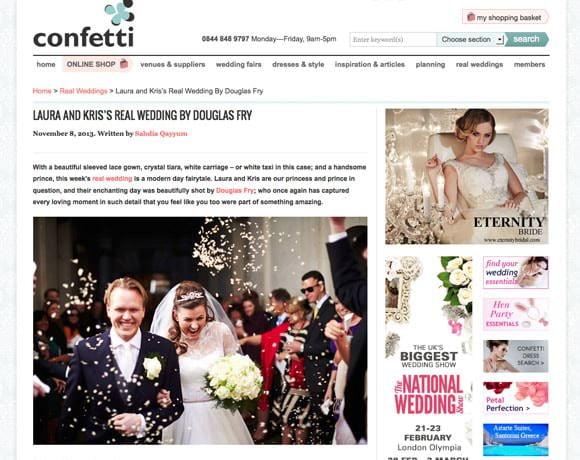 Confetti Real Wedding Article