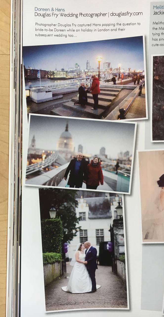 Your London Wedding Magazine Article Featuring Engagement Photographs