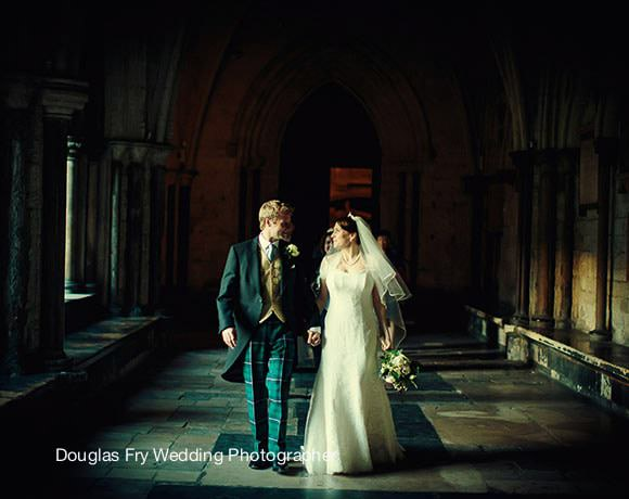 Wedding Photograph at Westminster - Lady Chapel - couple leaving