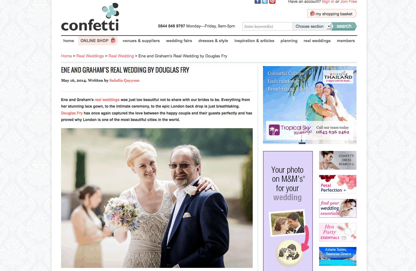 Confetti Real Wedding