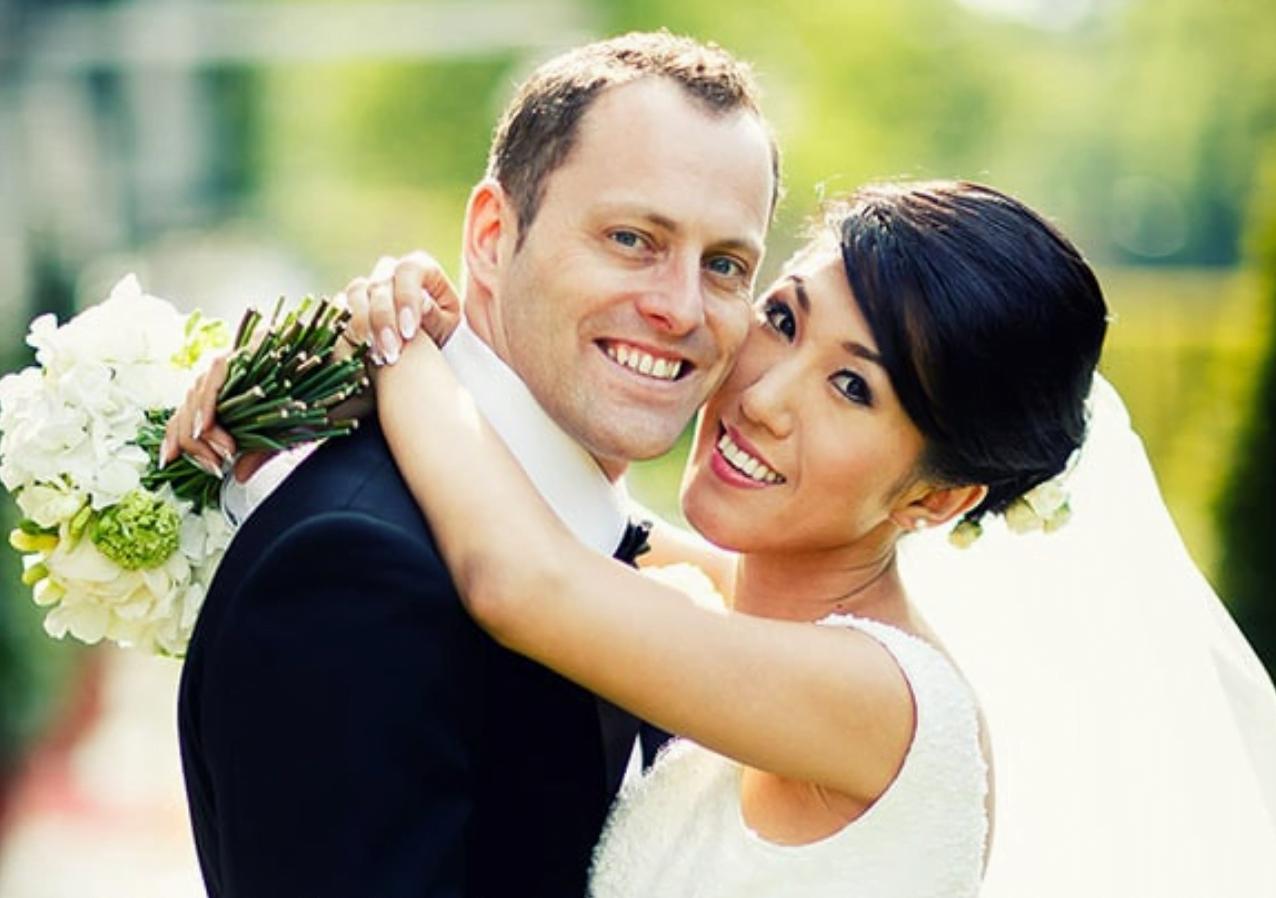 Mandarin Oriental Couple photographed after wedding