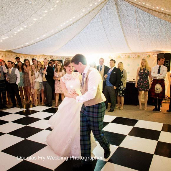 Wedding Photograph Hampshire - dance floor first dance