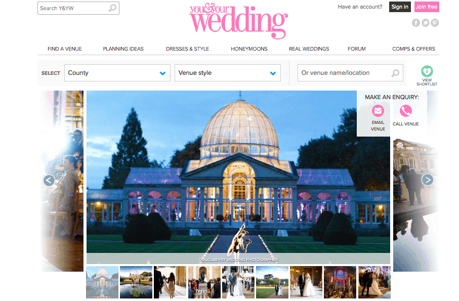 Syon Park - You and Your Wedding Website