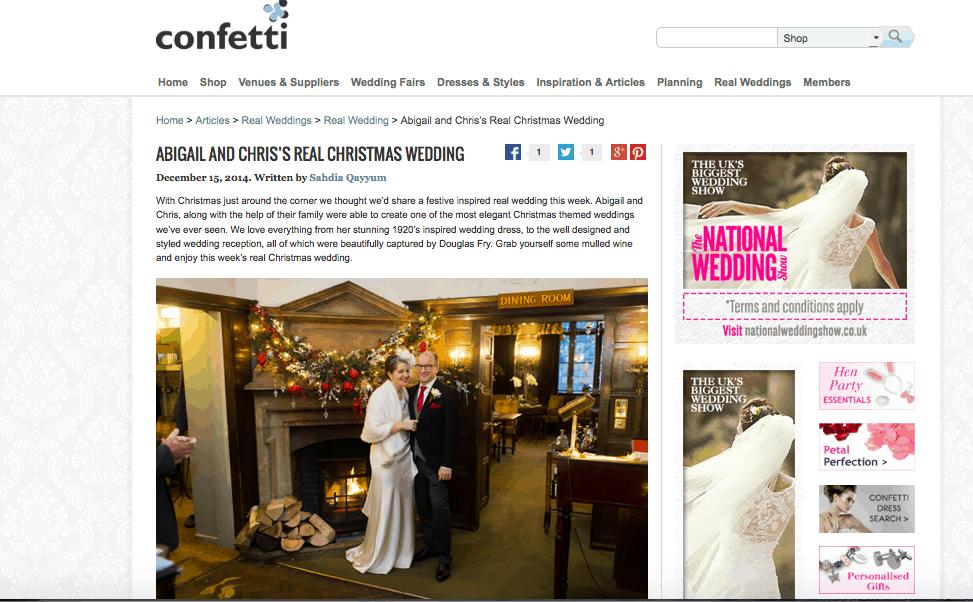 Abigail Real Wedding Confetti Website