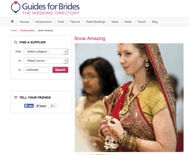 Guides for Brides Real Wedding