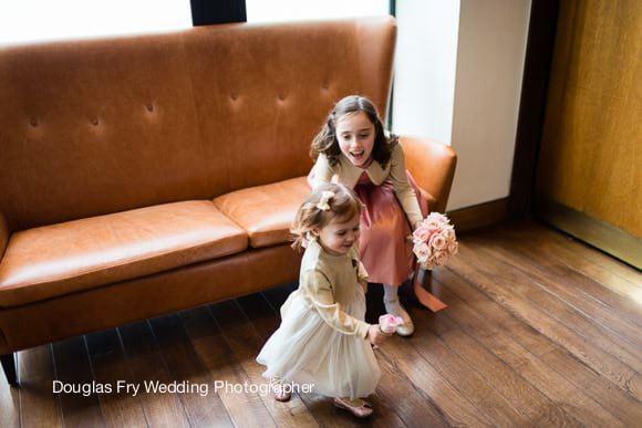 Photograph of children and wedding at Bluebird