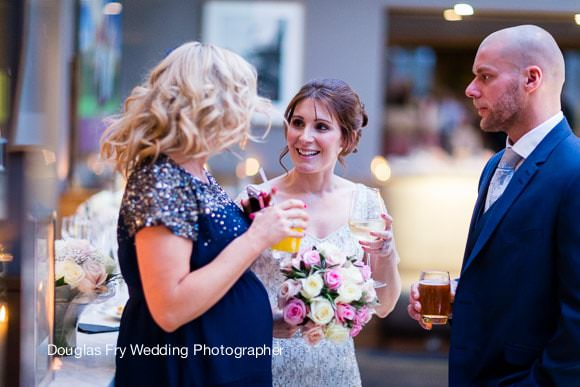 Wedding Photographer Hilton Park Lane of bride during wedding in Chelsea
