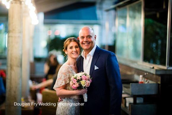 Bluebird wedding photograph of couple
