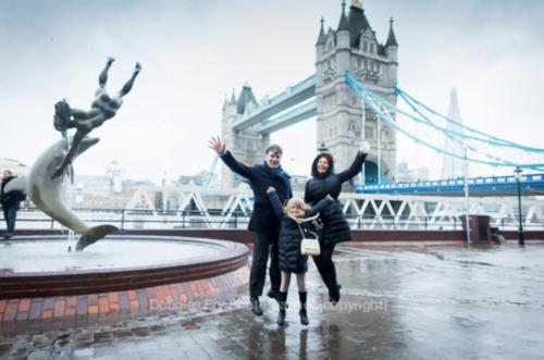 Rainy photography in London around Sites