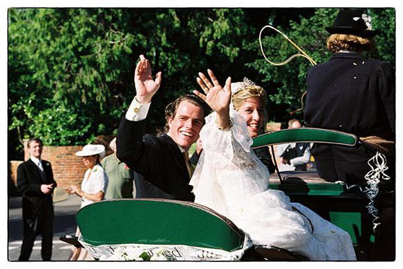Scan of wedding negative