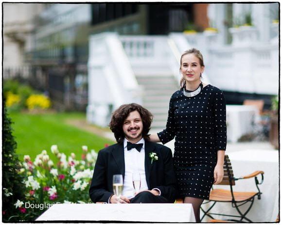 Wedding Photograph at Mandarin of Guests in Garden