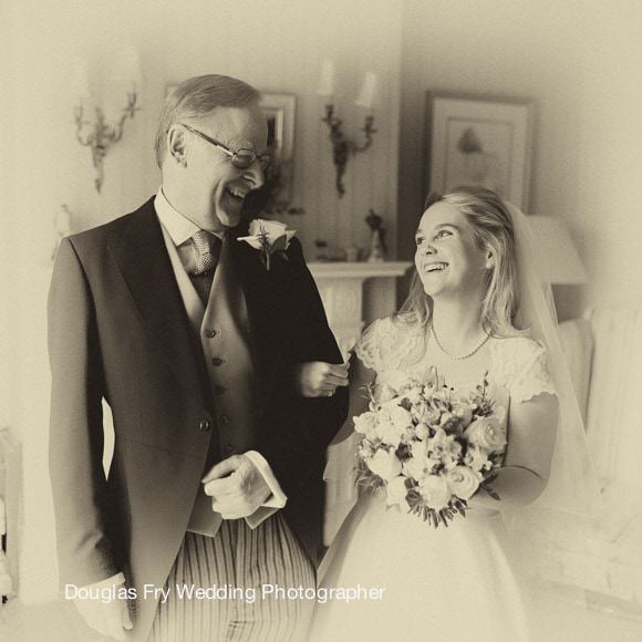 Wedding Photographs at Cannizaro Hotel - father and bride