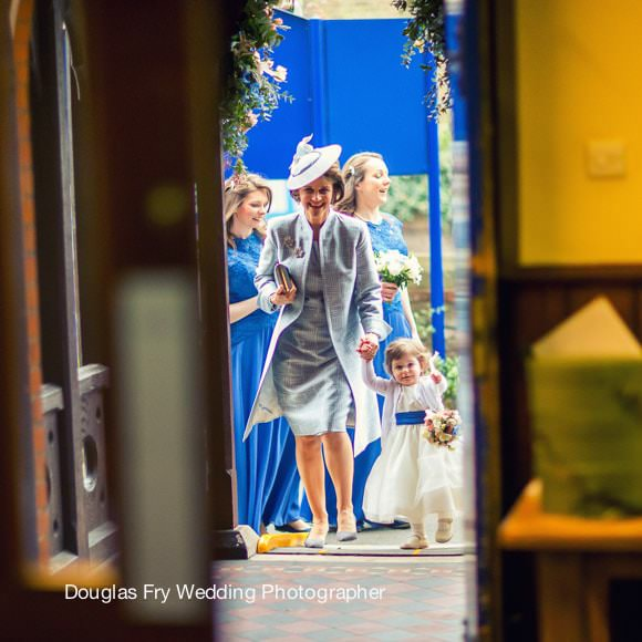 Wedding Brides mother at church