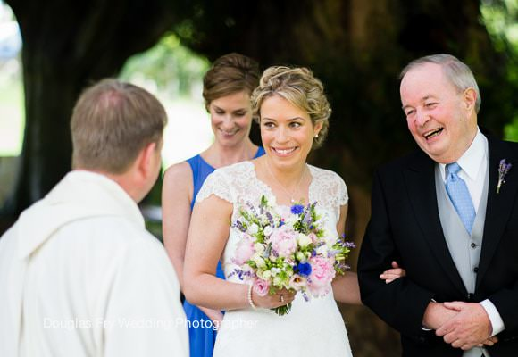 Wedding Photograph of bride and father of the bride taken on Leica camera and lenses