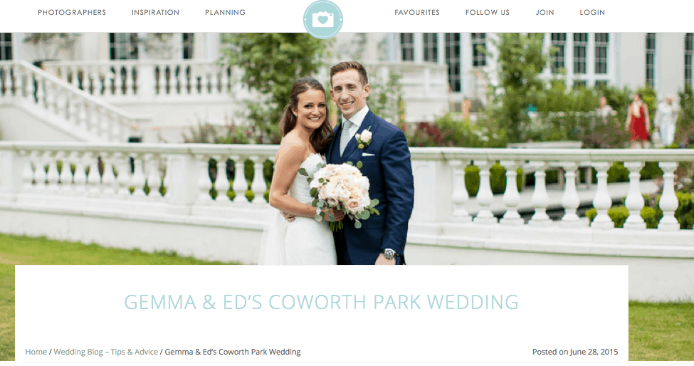 Douglas Fry Real Wedding Feature