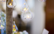 Wedding breakfast table lighting - photograph of tea lights