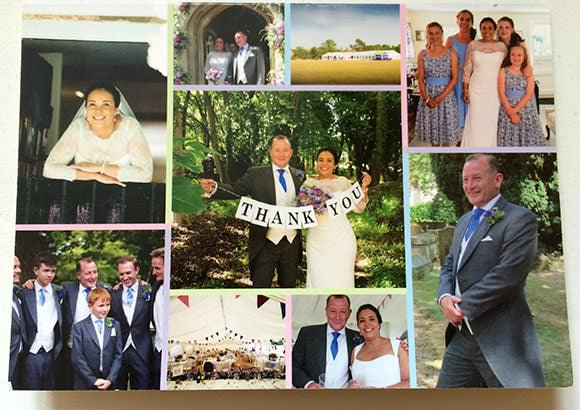 Thank you card from Bride and Groom