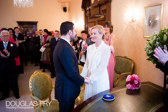 Wedding Photographer at Chelsea Register office - vows