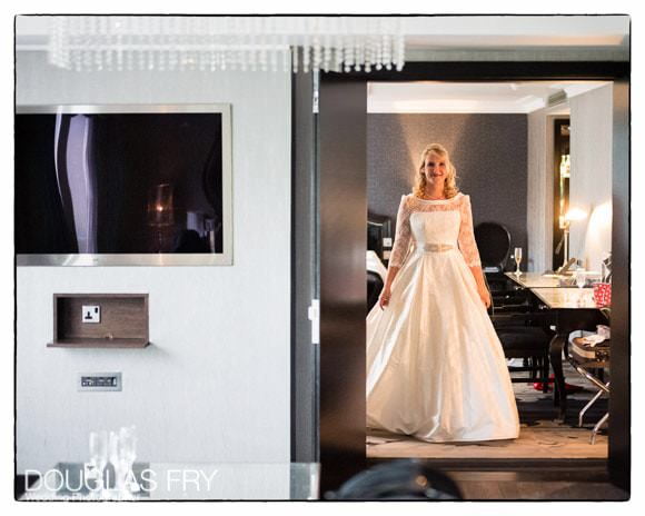 Bride getting ready at the Hilton Syon Park