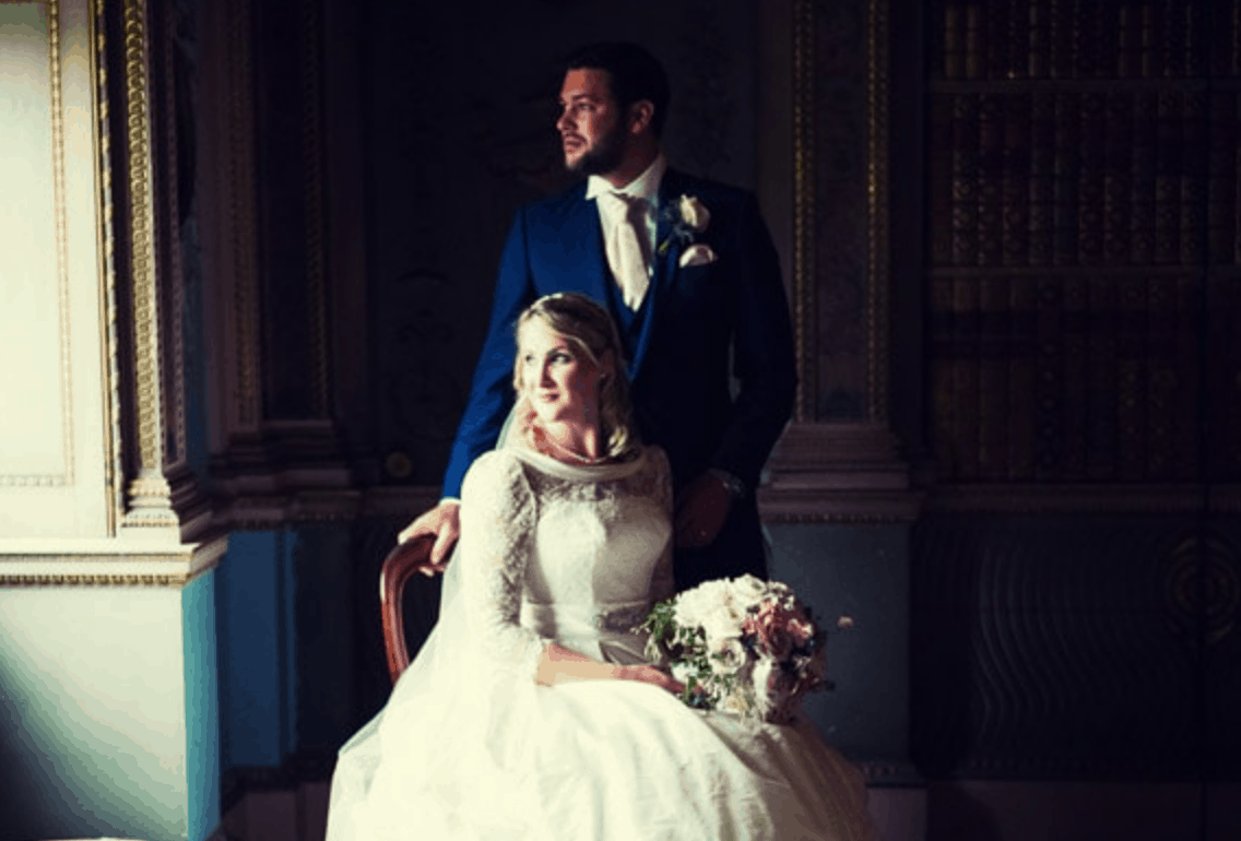Wedding photograph in Long Gallery