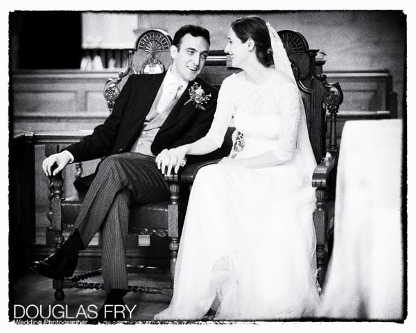 Wedding Photograph of couple together at Inner Temple