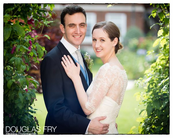 Wedding Photograph at Inner Temple outside of couple