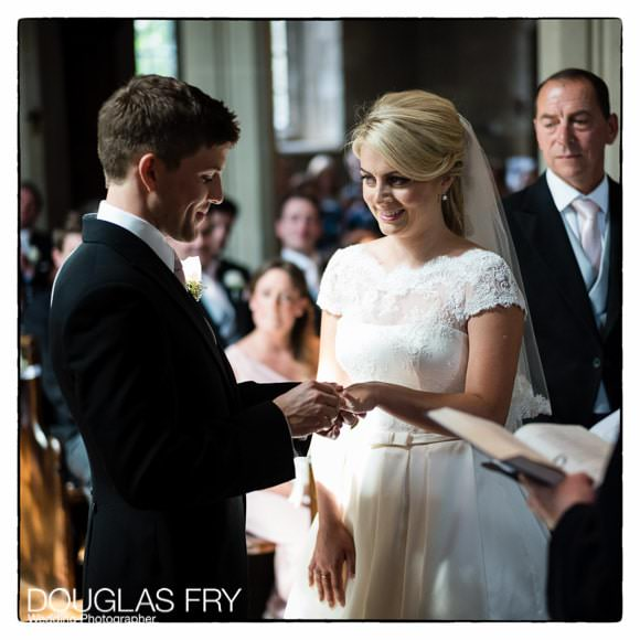 Bride and Groom at Hengrave Hall in Suffolk - Wedding Ceremony