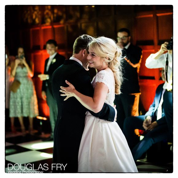 Couple dancing at Hengrave Hall in Suffolk