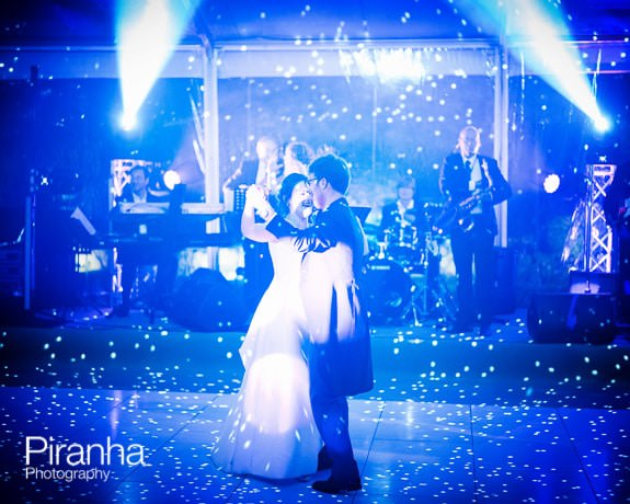 Couple dancing at wedding in Herefordshire