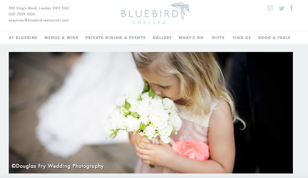 Photograph of bridesmaid at the Bluebird in London