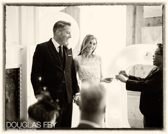 Photograph of wedding ceremony in London