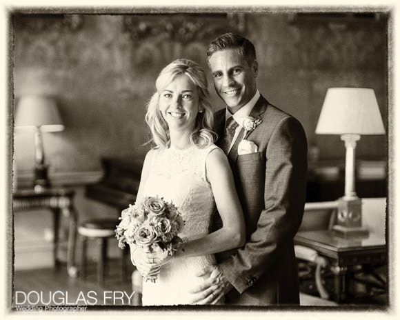 Photograph of bride and groom in Syon House