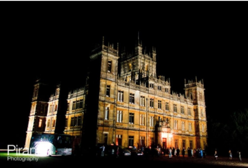 Highclere Castle photographed from outside during wedding