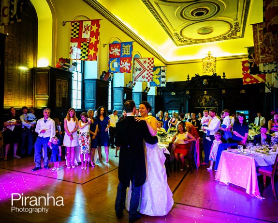 Bride and groom dancing at STationers' Hall