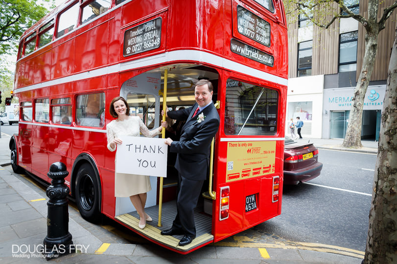 Inner temple photograph on bus for thank you cards