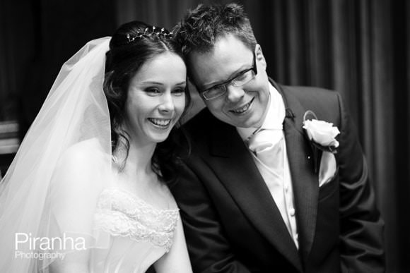 Highclere Castle, Newbury - Wedding Photography of couple in black and white