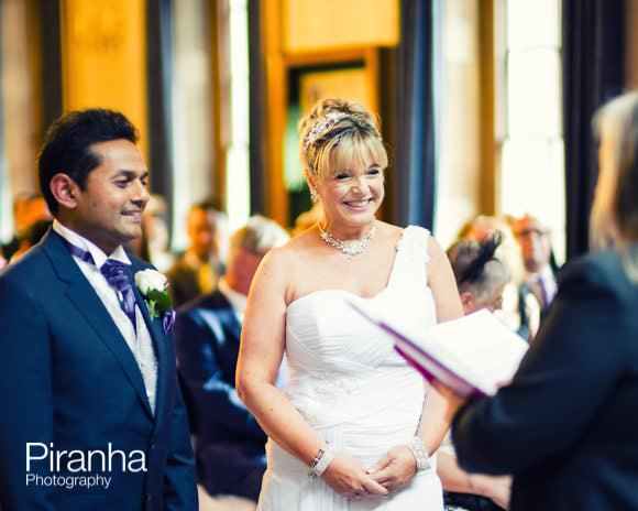 Wedding ceremony at Stationers' Hall in London