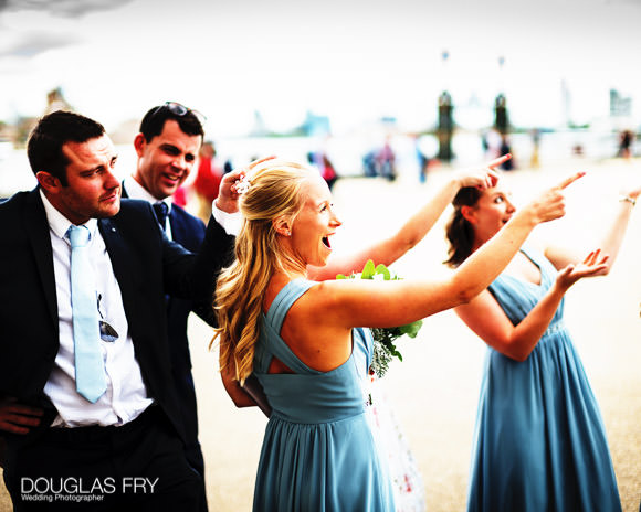 Bridesmaid photographed in Greenwich