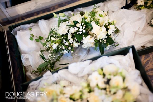 Bouquets ready for wedding at Cliveden