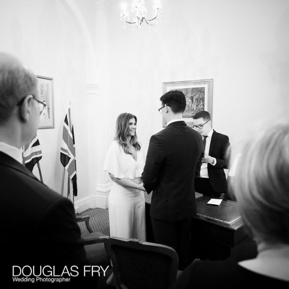 Wedding ceremony at Chelsea Register Office
