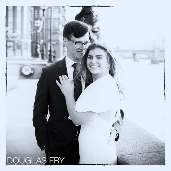 Black and White wedding photograph of couple
