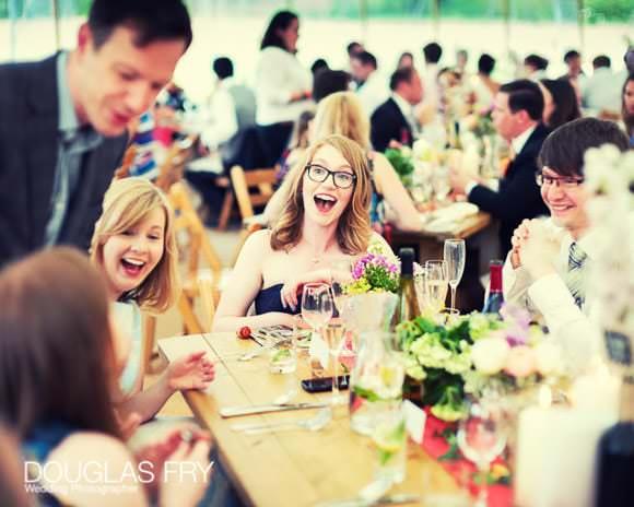 Wedding reception - photograph of guest during wedding breakfast