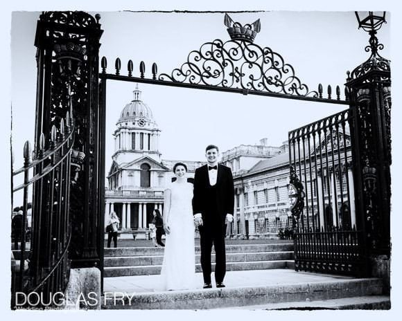 External shot at gates of Old Royal Naval College