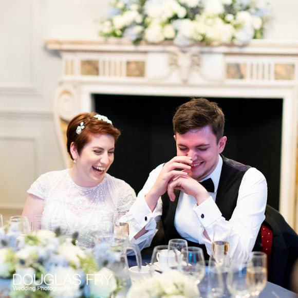 Wedding Photograph of bride and groom during reception at Admiral's House