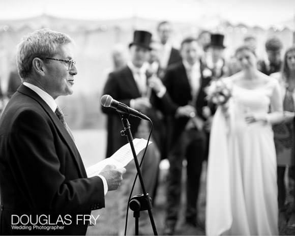 Speeches at wedding reception - father of the bride