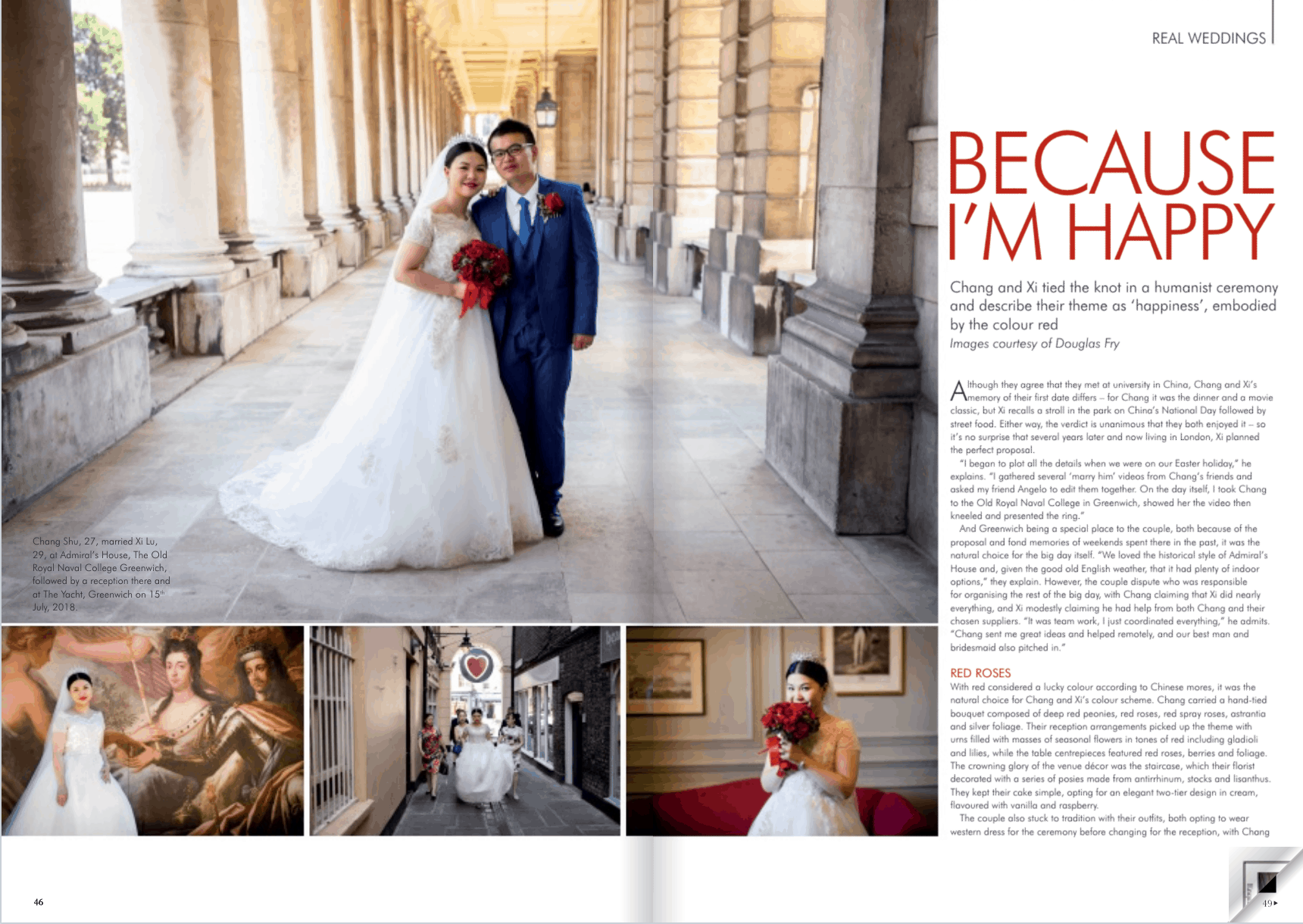 Real Wedding Feature in Magazine with Douglas Fry Photography
