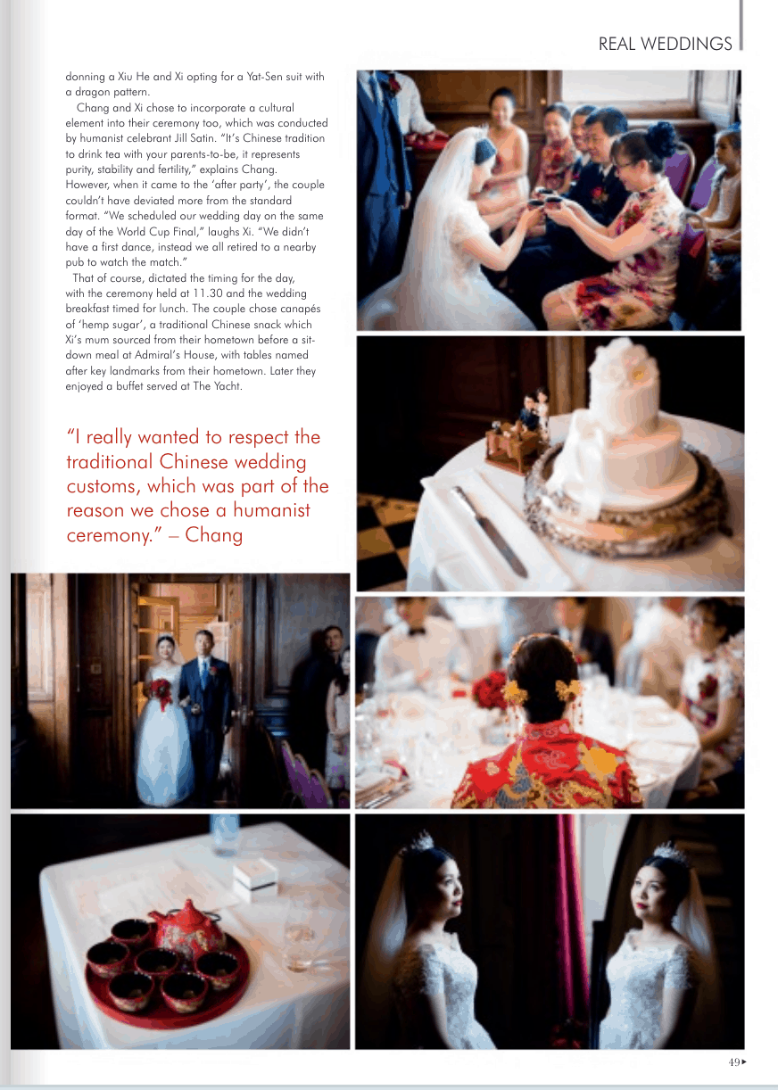Photographs taken at Old Royal Naval College wedding in 2018