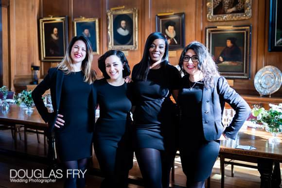 The wedding organsing team at Gray's Inn photographed by Douglas Fry